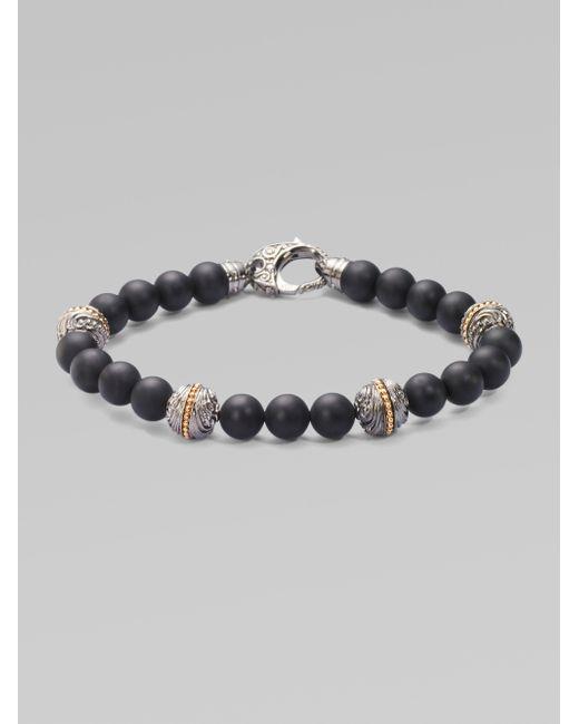 Stephen Webster | Black Engraved Silveronyx Bracelet for Men | Lyst