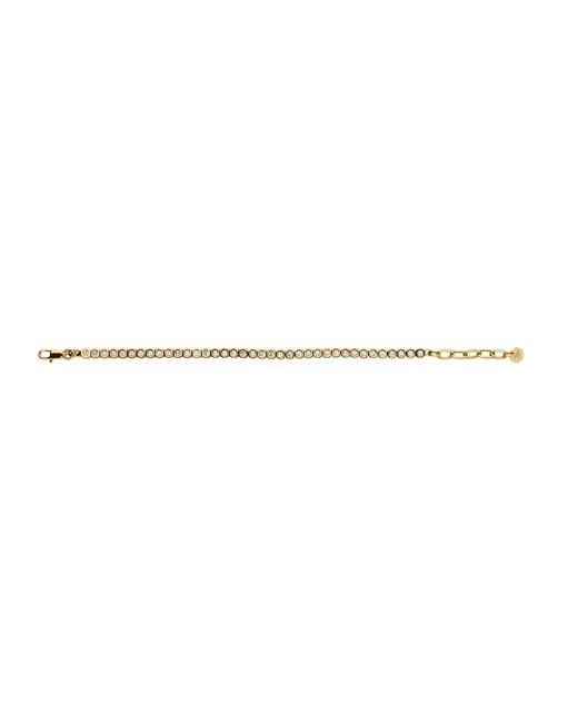 Dyrberg/Kern | Metallic Cony Shiny Gold Crystal Bracelet | Lyst