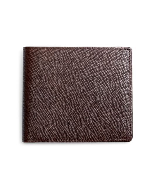 Brooks Brothers | Brown Saffiano Leather Wallet for Men | Lyst