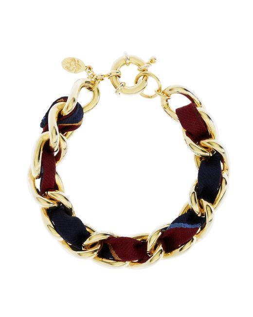 Brooks Brothers | Metallic Ribbon Chain Bracelet | Lyst