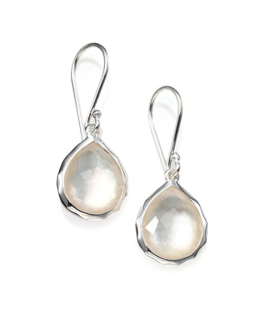 Ippolita | Metallic Mother-of-pearl, Clear Quartz & Sterling Silver Earrings | Lyst