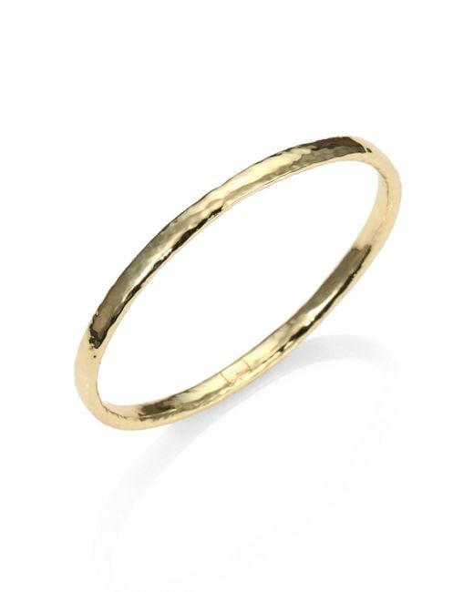 Ippolita   Metallic Glamazon 18k Yellow Gold Bangle Bracelet   Lyst