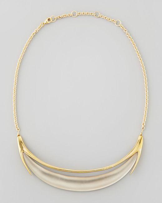 Alexis Bittar | Gray Neo Boho Minimalist Crescent Lucite Necklace | Lyst