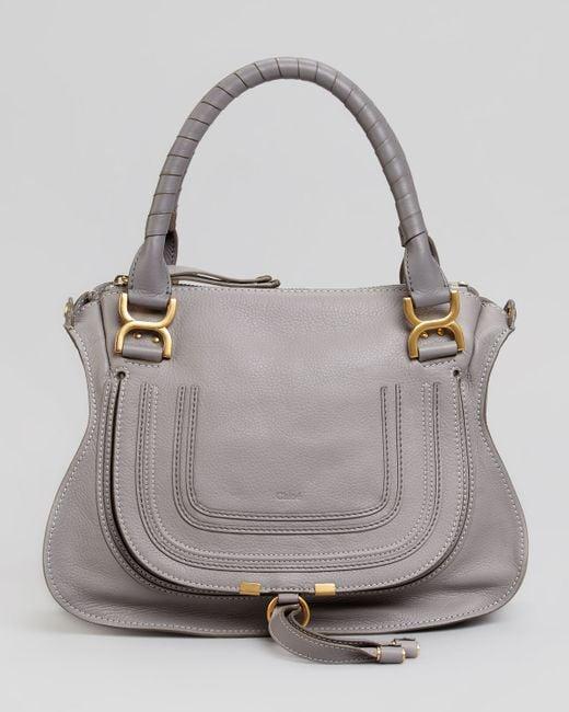 Chloé   Gray Marcie Medium Satchel Bag   Lyst
