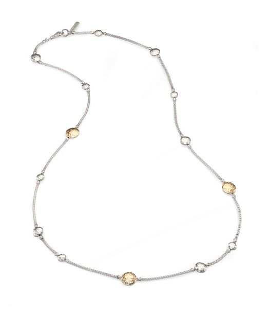 John Hardy | Metallic Palu 18k Yellow Gold & Sterling Silver Station Sautoir Necklace | Lyst