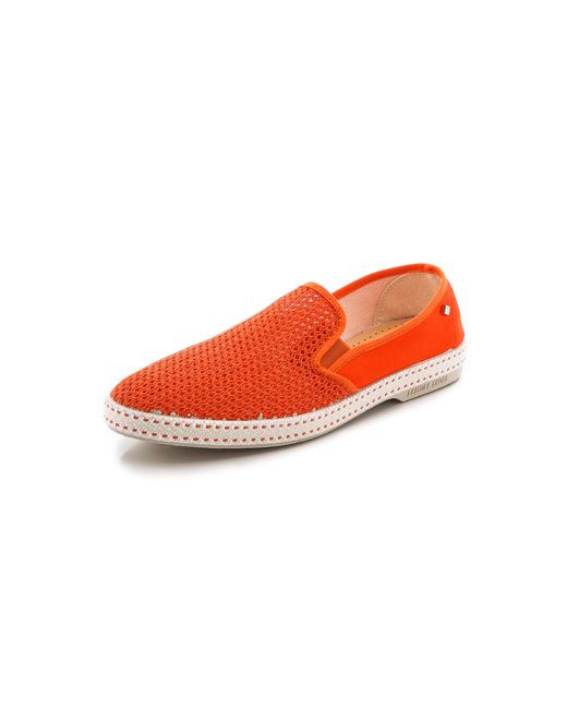 rivieras classic 20 slip on shoes in orange for lyst