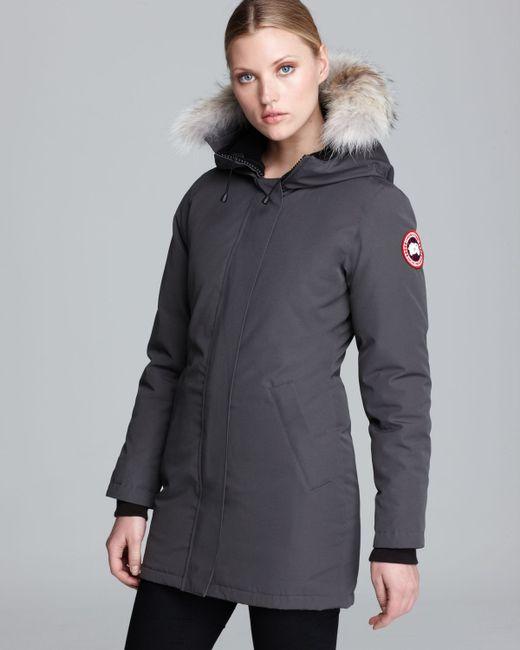 Canada Goose | Gray Victoria Coat | Lyst