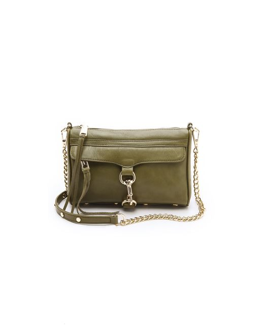 Rebecca Minkoff | Green Mini Mac Bag | Lyst