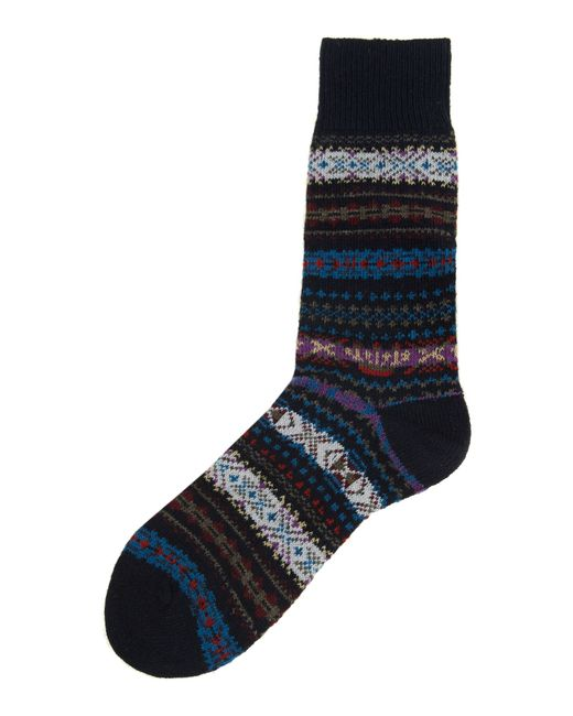Barbour | Blue Boyd Fairisle Sock for Men | Lyst