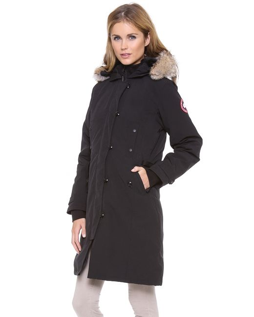 Canada Goose womens outlet cheap - Canada goose Kensington Parka in Black | Lyst
