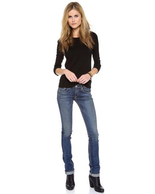 Rag & Bone | Blue Capri Mid-rise Skinny Jeans | Lyst