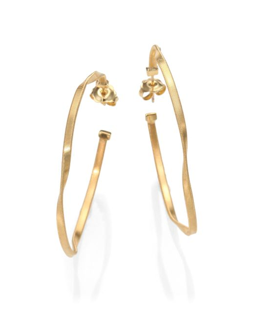 Marco Bicego | Metallic Marrakech 18k Yellow Gold Twisted Hoop Earrings/2 | Lyst