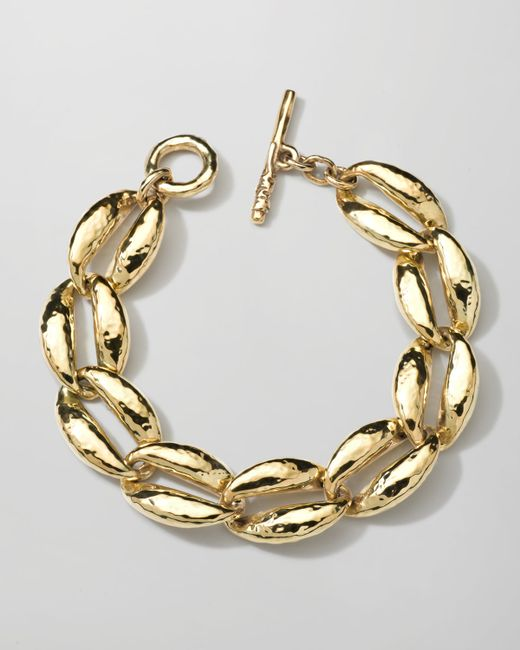 Ippolita | Metallic 18k Gold Glamazon Coffee Bean-link Bracelet | Lyst
