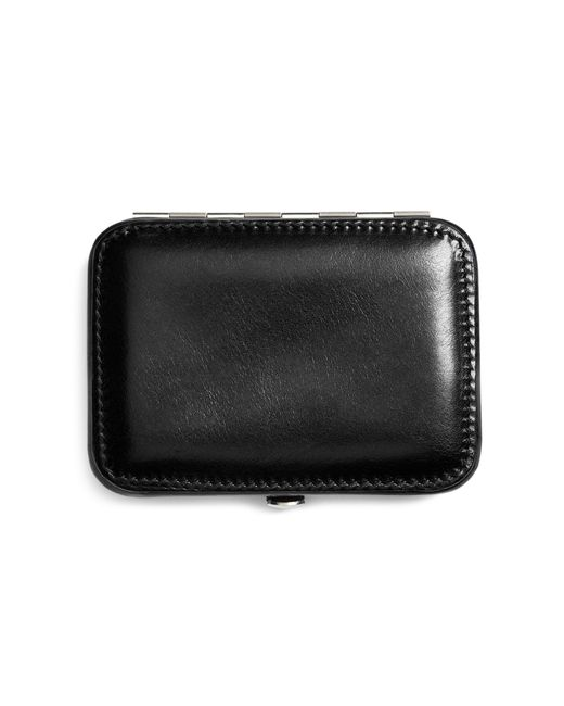 Brooks brothers Leather Business Card Case in Black for