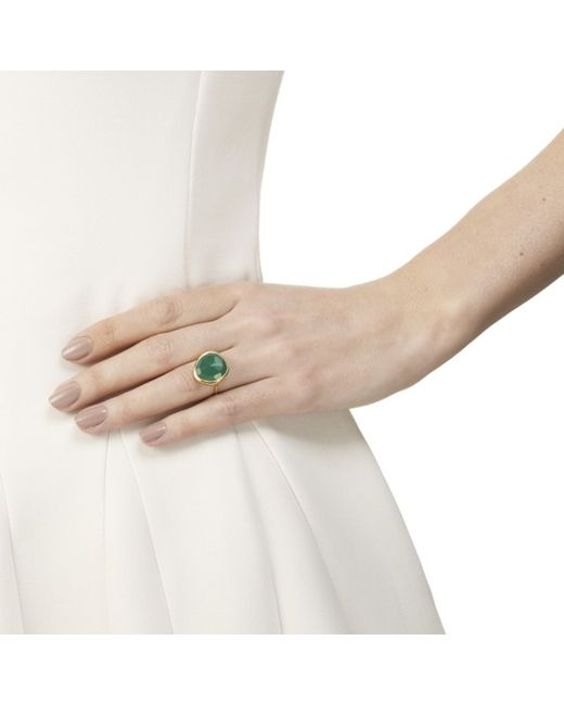 Monica Vinader | Green Siren Ring | Lyst