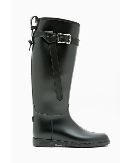 Nasty Gal | Black Riff Raff Rain Boot | Lyst