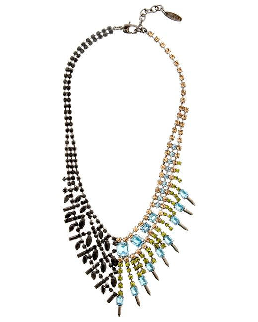 Joomi Lim | Multicolor Asymmetric Crystal Necklace | Lyst