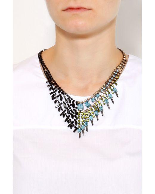 Joomi Lim | Multicolor Asymmetric Crystal Necklace | Lyst