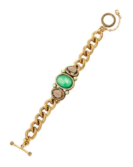 Stephen Dweck | Green Agate And Smoky Quartz Id Bracelet | Lyst