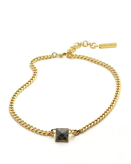 Vince Camuto | Metallic Goldtone Tortoise Bib Necklace | Lyst