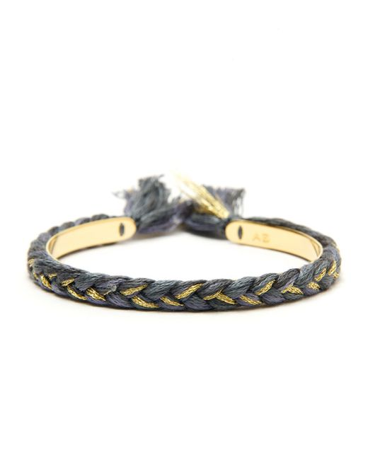 Aurelie Bidermann | Metallic Braided Bracelet | Lyst