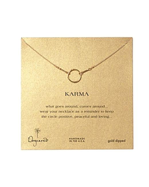 Dogeared | Metallic Gold Basic Karma | Lyst
