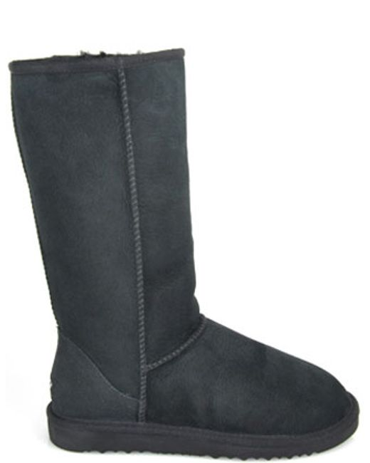ugg suede shearling boot in gray lyst