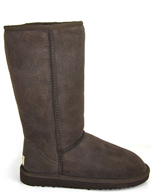 ugg suede shearling boot in brown save 20 lyst