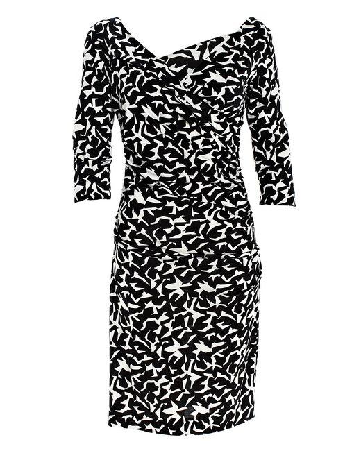 Diane von Furstenberg | Black Clara Floral Sleeveless A-line Dress | Lyst