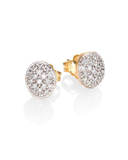 Marco Bicego | Metallic Siviglia Diamond & 18k Yellow Gold Stud Earrings | Lyst