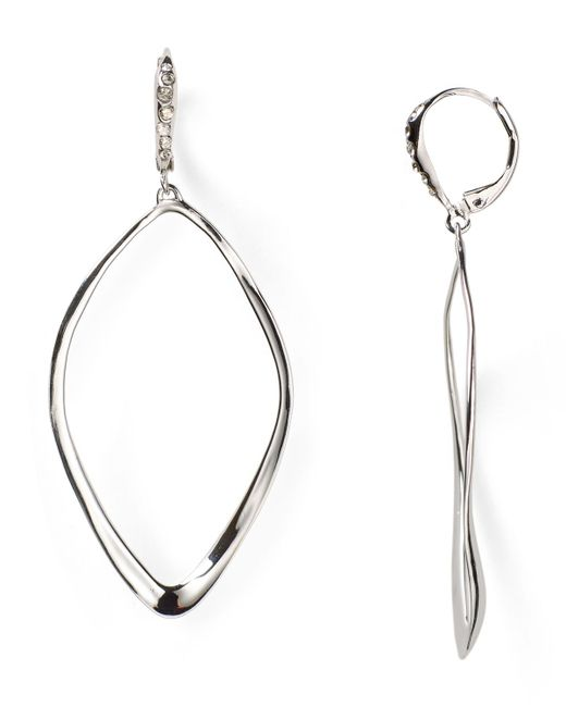 Alexis Bittar | Metallic Miss Havisham Sculpted Aura Teardrop Leverback Earrings | Lyst
