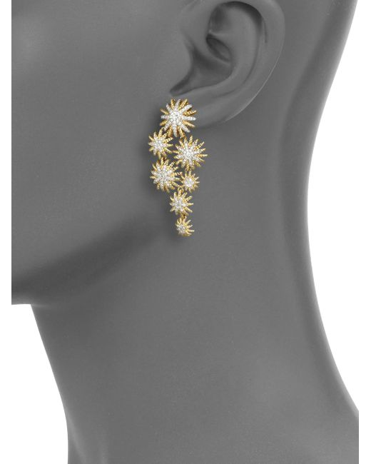 David Yurman Diamond 18k Yellow Gold Starburst Cluster