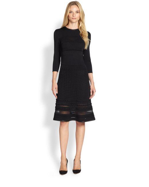 Elie Tahari   Black Sasha Longsleeve Dress   Lyst