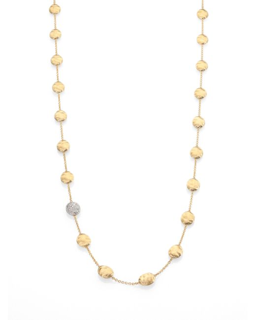 Marco Bicego | Metallic Siviglia Diamond & 18k Yellow Gold Station Necklace | Lyst