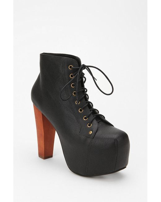 jeffrey campbell leather lita boot in black save 56 lyst. Black Bedroom Furniture Sets. Home Design Ideas