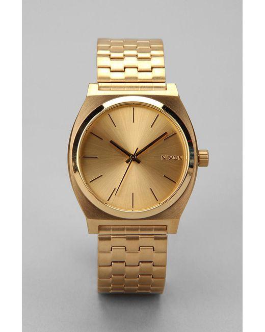 Nixon | Gold Metal Time Teller Watch for Men | Lyst