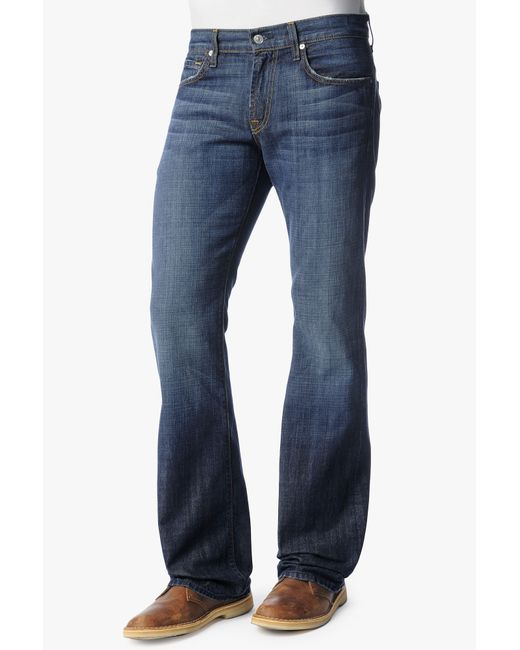 7 For All Mankind | Blue Standard Straight Leg Jean for Men | Lyst