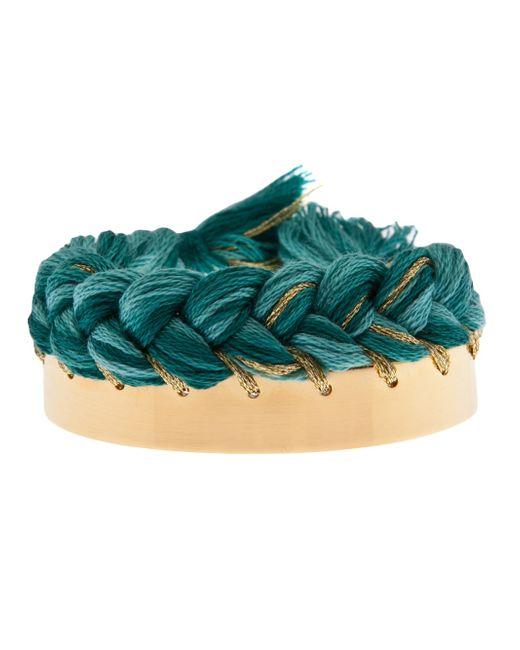 Aurelie Bidermann | Green Copacabana Gold-plated Wide Cuff | Lyst