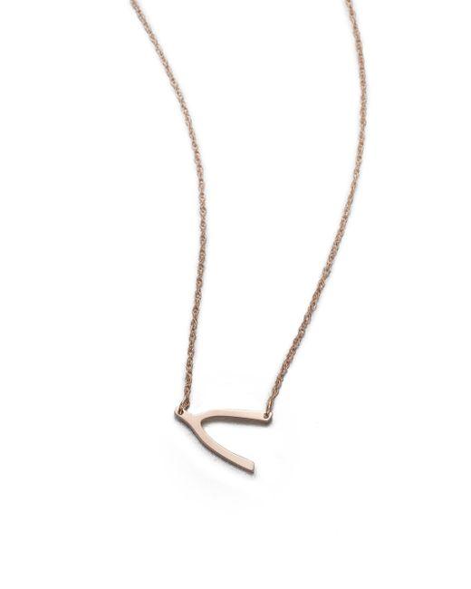 Jennifer Zeuner | Pink Wishbone Pendant Necklace | Lyst