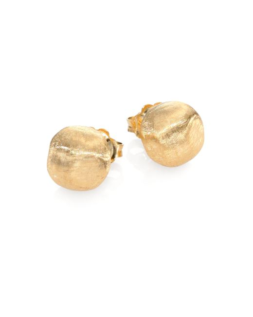 Marco Bicego | Metallic Africa 18k Yellow Gold Ball Stud Earrings | Lyst