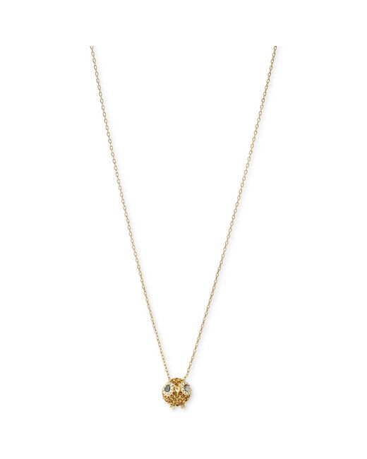 Fossil | Metallic Gold Tone Crystal Owl Pendant Necklace | Lyst