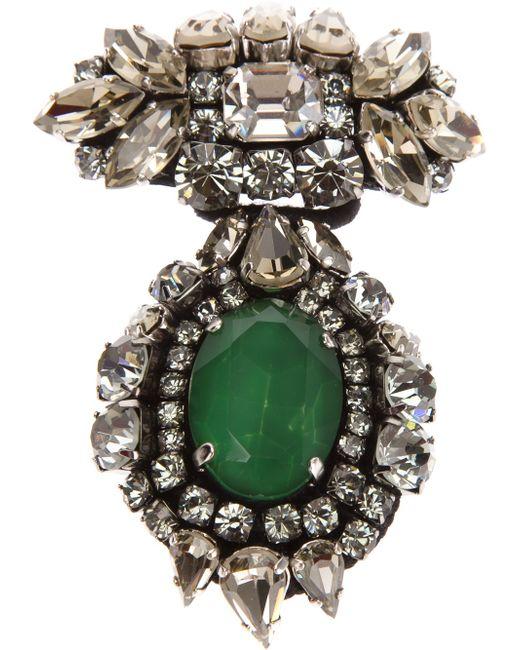 Rada' | Green Crystal Brooch | Lyst