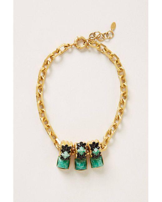 Elizabeth Cole   Green Minka Necklace   Lyst