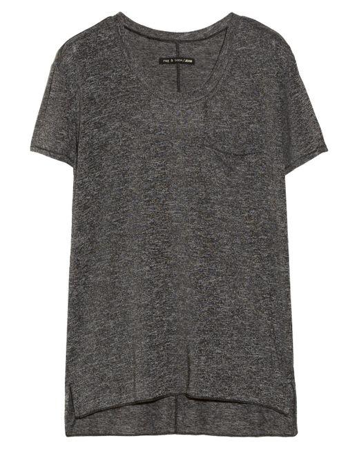 Rag bone jersey t shirt grey in gray lyst for Rag and bone t shirts