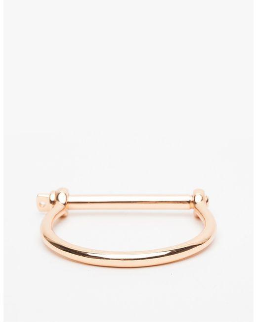 Miansai | Pink Rose Gold Screw Cuff | Lyst
