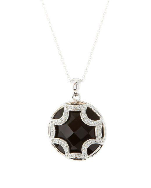 Elizabeth Showers | Black Onyx Sapphire Maltese Pendant Necklace | Lyst