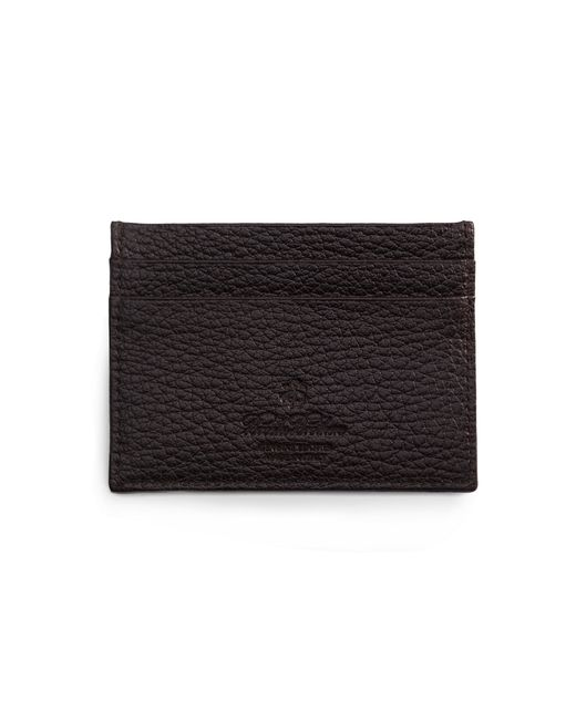 Brooks Brothers | Black Buffalo Slim Card Case for Men | Lyst