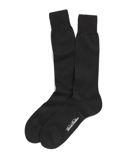 Brooks Brothers   Black Egyptian Cotton Jersey Knit Crew Socks for Men   Lyst