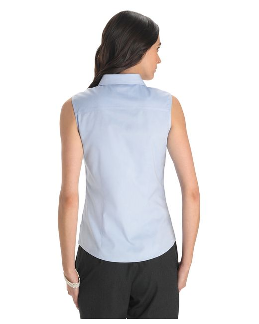 Brooks brothers petite non iron tailored fit sleeveless for Tailoring a dress shirt