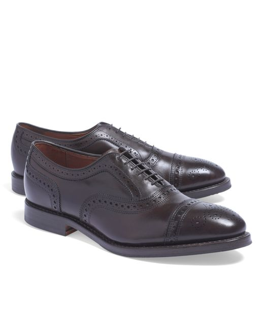 Brooks Brothers | Brown Medallion Perforated Captoes for Men | Lyst
